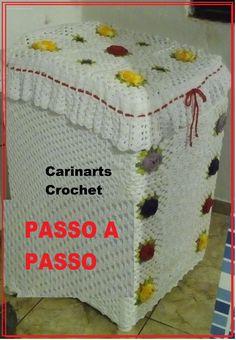 Capa para a Maquina de lavar em crochê (2°parte) por Carina Dicaas
