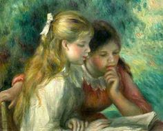 The Reading by Pierre Auguste Renoir (1841 – 1919, French)