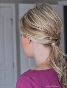 The Small Things Blog: Not Just a Ponytail    This one actually works.....did it on my youngest.