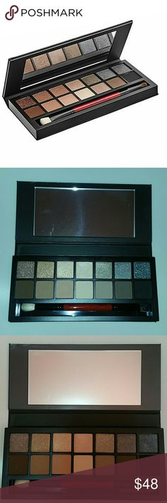 Smashbox Full Exposure Palette Swatch lightly on 3 color only. Brush is new and other shadow color never touch. New condition. Smashbox Makeup Eyeshadow