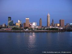The Cleveland skyline from beautiful Lake Erie Cleveland Skyline, Cleveland Ohio, Cleveland Rocks, Cleveland Wallpapers, Wonderful Places, Beautiful Places, Places Ive Been, Places To Go, City Pages