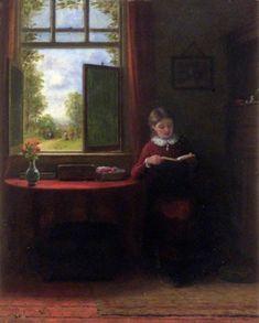 Frederick Daniel Hardy (1826-1911) —   Аn Interesting Story  (494×615)