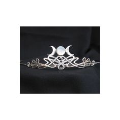 Triple Goddess Moon w/ Mother of Pearl Tiara Circlet for Costume,... (17 BRL) ❤ liked on Polyvore featuring accessories, hair accessories, jewelry, tiara, hair, bride hair accessories, bridal hair accessories, bridal tiaras and bride tiara