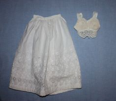 Ayrshire Padded Bra and Slip for German or French Bisque Early 1900s