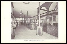 Manufacturers National Bank Providence RI Interior Design 1898 Photo Illustrated Banking Ad