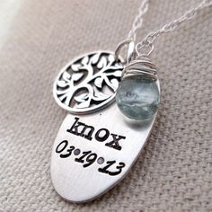 Personalized necklace  Mother's Necklace  Life by JLynnCreations, $50.00