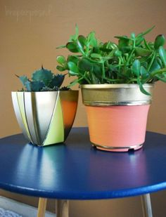 Need some more ideas for fancying up indoor or outdoor planters (especially those cheap plastic planters most plants come in)?