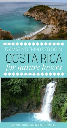 There are so many things to do in Costa Rica, and the best of its attractions are no doubt related to its natural beauty. Check out here the top five things to in Costa Rica for nature lovers including scuba diving at Drake Bay, zip-lining at Arenal, bird Costa Rica Travel, Costa Rica Reisen, New Travel, Solo Travel, Travel Goals, Travel Tips, Coach Travel, Travel Hair, Travel Destinations