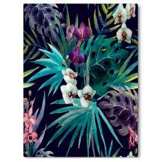 Botanical Panama palm canvas