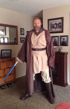 Obiwan robe, shirt and belt made from sheets