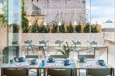 Condominio Monti: Live in Rome, but Make it Modern - Design Milk Interior Design Elements, Modern Design, Custom Headboard, Wallpaper Decor, Colorful Furniture, Decoration Table, Grey Walls, Home Decor, Buildings