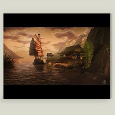 Fun Indie Art from BoomBoomPrints.com! http://www.boomboomprints.com/Product/DavidWheeler/CHINA_SEA/Art_Prints/8x10_Print/