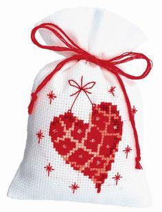 Sacchettino: Coeur da Vervaco - Sacchettini Potpourri - Kit Ricamo - Casa Cenina