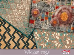 The Sims Resource: Wicker rugs by evi Game Creator, Sims 4 Cc Furniture, Sims Community, Sims Resource, Electronic Art, Wicker, Rugs, Artist, Painting