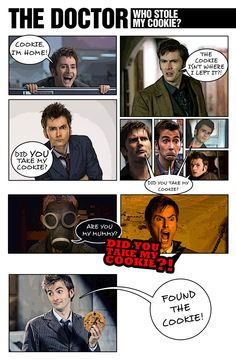 I was challenged to make a photo-comic of the Doctor's quest for The Elusive Cookie.