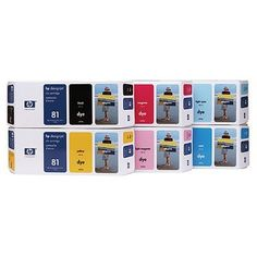 Genuine HP NO. 81 DYE INKS DESIGNJET 5500 C4930A, C4931A, C4932A, C4933A, C4934A, C4935A 6 Colors Sealed In Retail Packaging by HP. $799.99. 1) C4930A 81 Inkjet Print Cartridge Black (680 ml Yield). 2) C4931A 81 Inkjet Print Cartridge Cyan (680 ml Yield). 3) C4932A 91 Inkjet Print Cartridge Magenta (680 ml Yield). 4) C4933A 81 Inkjet Print Cartridge Yellow (680 ml Yield). 5) C4934A  81 Inkjet Print Cartridge Light Cyan (680 ml Yield). 6) C4935A 81 Inkjet Print Cartridge ...