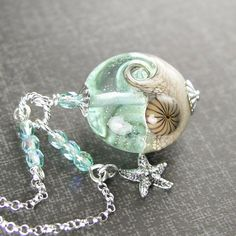 Aquamarine Ocean Wave Necklace Sterling Silver by DorotaJewelry More