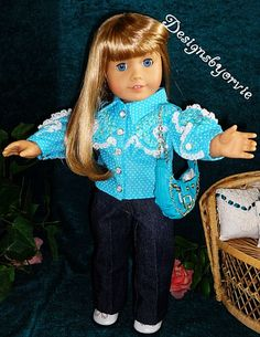American Girl Doll and 18 doll clothes Purse and by designsbyorvie, $14.00