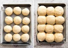 No stand mixer, no knead, no special equipment required. These No Knead Dinner Rolls are perfectly soft and fluffy and are astonishingly effortless to make. Just combine the ingredients in a bowl and Fluffy Dinner Rolls, Homemade Dinner Rolls, Dinner Rolls Recipe, Cooking Bread, Cooking Recipes, Bread Baking, Braai Recipes, Yeast Free Breads, Dinner Bread
