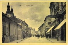 Eger; Széchenyi utca | Képcsarnok | Hungaricana Hungary Travel, Videos Funny, Old Pictures, Historical Photos, City, Gallery, Spas, Painting, Castles