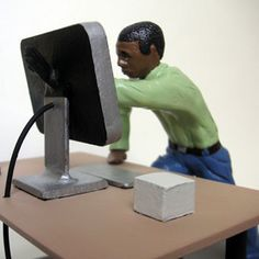 """""""Lost In Space"""" a limited edition sculpture addressing the nature of man and technology."""