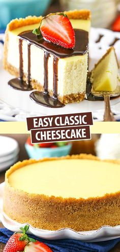This Classic Cheesecake recipe is the best place to start if you've never made cheesecake and want to learn how to do it. It's an easy recipe that makes smooth, creamy and delicious cheesecake. Easy No Bake Cheesecake, How To Make Cheesecake, Best Cheesecake, Classic Cheesecake, Homemade Cheesecake, Easy No Bake Desserts, Delicious Desserts, Dessert Recipes, Cheesecake Bites