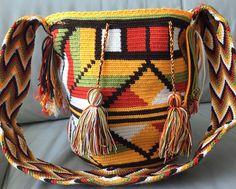 Authentic Wayuu Bag Mochila Hand Woven Multicolor $60.00