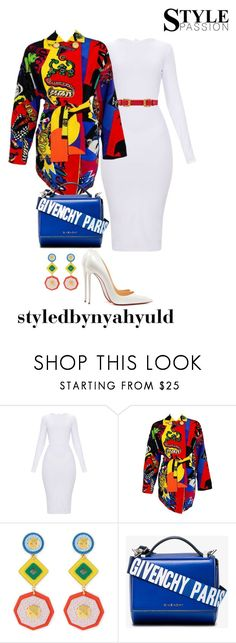 """""""dripping in finesse"""" by nyahyul on Polyvore featuring Versace, Henri Bendel, Givenchy and Christian Louboutin"""
