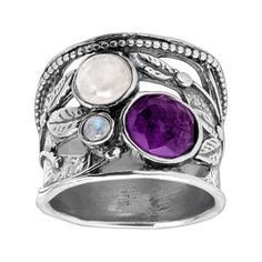 Silpada Heavenly 3 ct Moonstone & Natural Amethyst Ring in Sterling Silver - Moonstone Ring - Ideas of Moonstone Ring - 0 The post Silpada Heavenly 3 ct Moonstone & Natural Amethyst Ring in Sterling Silver appeared first on Awesome Jewelry. Sea Glass Jewelry, Copper Jewelry, Sterling Silver Jewelry, 925 Silver, Gold Jewellery, Diamond Jewelry, Unique Jewelry, Indiana, Silver Bracelets