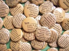 buttons, pins, love them