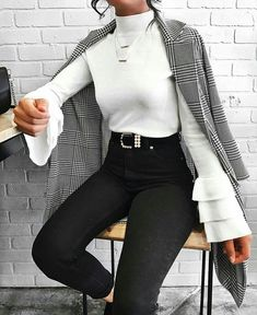 52 Gorgeous Winter Outfits Ideas for Women - Herren- und Damenmode - Kleidung Mode Outfits, Trendy Outfits, Fashion Outfits, Womens Fashion, Fashion Clothes, Ladies Fashion, Dress Fashion, Classy Outfits For Teens, Dress Outfits