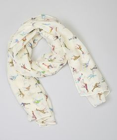 Take a look at this White Giraffe Scarf by Sweet Indigo on #zulily today!