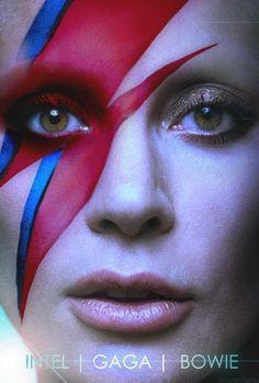 Imagen insertada lady  gaga Intel gaga Bowie