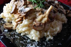 Crock Pot Risotto with Gourmet Mushrooms