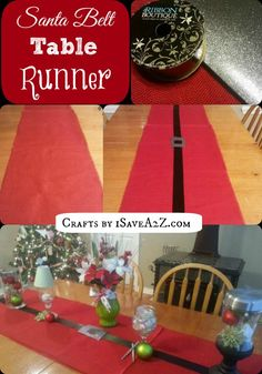 Santa Belt Table Runner - Have a Beautiful Table in Minutes!