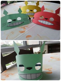 Colorful Totoro Face Masks