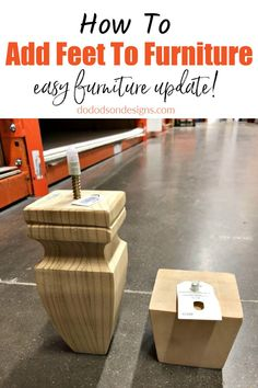I DO this all the time! When I learned how easy it was to add feet to furniture, it was a game-changer. It changes everything about an ugly short piece. The DIY possibilities are endless for a furniture painter. Add bun feet to a dresser or an old kitchen cabinet. Furniture repair has never been easier.