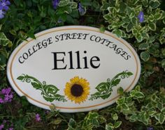 Cottage Oval Signs~ Personalized for Home or Office on durable PVC Board