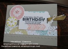Another Sale-a-Bration Card using Petal Parade and See Ya Later from Stampin' Up!