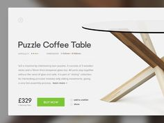 Hi guys, Happy Monday and welcome to my daily design challenge! Day 002 - Product card. Behold that beautiful table! (which we actually have in our office) If you like the product and you want t...