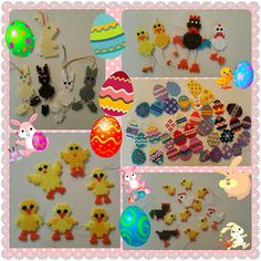 Easter ornaments hama beads by amaruq313