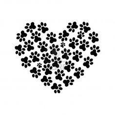Corazón de la pata de la print_2 Foto de archivo - 12221730