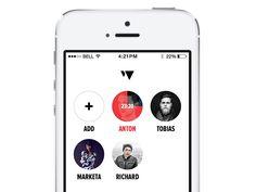 Friend list designed by Filip Slováček. Ios Design, Mobile Ui Design, App Ui, Ui Ux, Friends List, User Experience Design, Mobile Application, Brand Packaging, User Interface