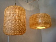 Fair Trade, Artisan Hand Woven Wicker Lamps And Furniture From Chile : TreeHugger Green Design, Wicker, Pendant Light Fixtures, I Love Lamp, Lamp, Bamboo Ceiling, Lights, Diy Lamp Shade, Basket Lighting