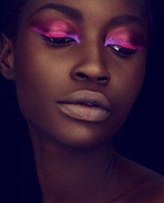 beautiful colors on dark skin <3