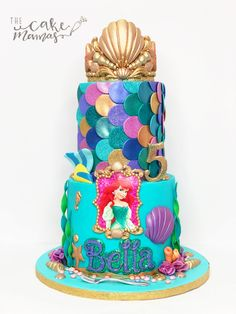 Little mermaid birthday cake! Call or email to place your Ariel themed cake . Little Mermaid Birthday Cake, 10 Birthday Cake, Little Mermaid Cakes, The Little Mermaid, Sirenita Cake, Ariel Cake, Sea Cakes, Disney Cakes, Girl Cakes
