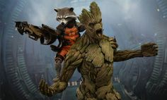 Sideshow Collectibles and Hot Toys are excited to present the special Rocket and Groot Sixth Scale Figure Set which includes the gun-toting raccoon and his personal houseplant/muscle. Description from sideshowtoy.com. I searched for this on bing.com/images