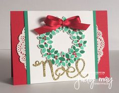 Stampin' Up! Wondrous Wreath for CTC93 - Judy May, Just Judy Designs