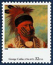 US Stamp 1998 - Four Centuries of American Art George Catlin 1796-1872