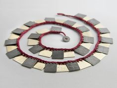 Cleopatra Square Necklace #3 - Erica Schlueter